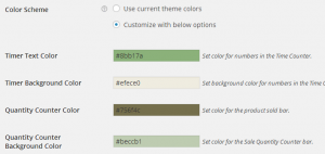 Set Countdown Box color scheme